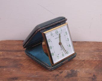 Mid Century Phinney Walker Folding Travel Alarm Clock - Made In Germany