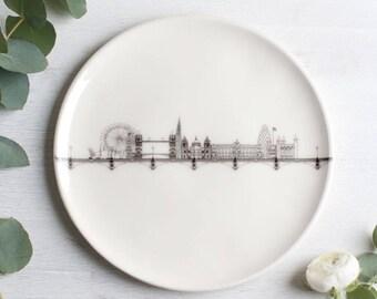 Handmade London Plate | Illustrated London Skyline