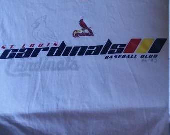 St Louis Cardinals Baseball Club t-shirt by Majestic made in USA Size medium/world series/Missouri/MLB/tailgate/fan/