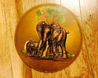 Vintage Gastone Copper Elephant Wall Hanging