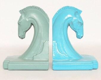 Glam Boho Horse Head Bookends