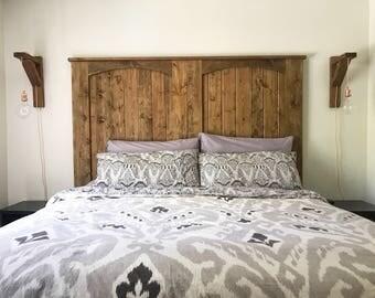 The Mariya Headboard (headboard, palette headboard, reclaimed wood headboard, queen headboard, twin headboard, farmhouse headboard)