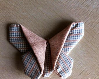 Butterfly fabric origami pink and gray