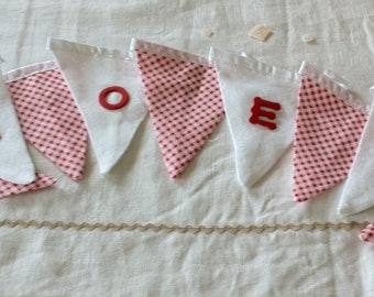 new Bunting in red and White Christmas