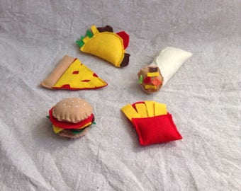 Fast Food Catnip Cat Toys