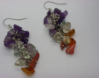 Earrings stones gemstone ships