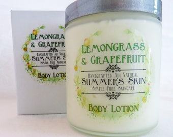 Lemongrass & Grapefruit Body Lotion,  Handcrafted, All Natural by Summer's Skin