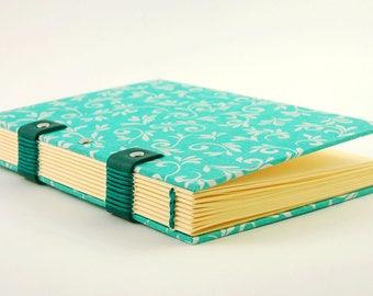 Journal intime ou carnet de notes, reliure copte, format A6, personnalisable, carnet de grossesse, 180 pages, carnet artisanal
