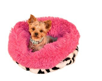 ZEBRA CUDDLE CUPPY :  Ultra Plush Soft Cuddle Pet Bed Sack, Dog Bed, Cat Bed, Pet Furniture for Dog or Cat, Small and Medium Pet Bed