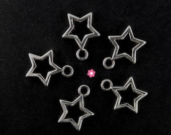x 10 (269D) 12mm Silver Star charm