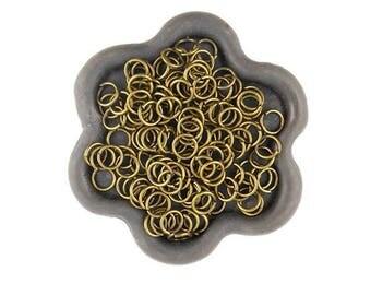 x 100 jump ring open bronze 6mm (32)