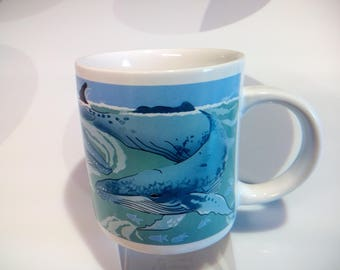 Vintage Humpback Whales Coffee Mug by Norcrest