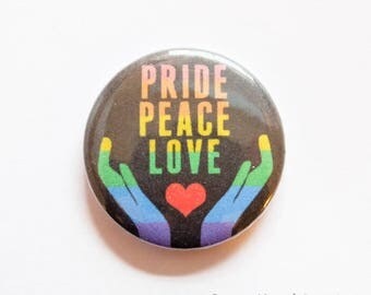 Pride Peace Love (25mm)