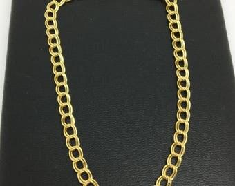 14K Yellow Gold Double Link Bracelet