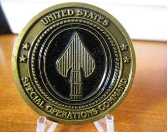 Special Operations Command * SOCOM * Command Sergeant Major Mel Wick Challenge Coin #3707