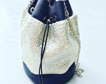 Mini Bucket leather bag