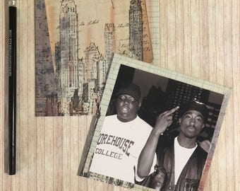 Writing journal, notebook, bullet journal, diary, sketchbook, blank - 2pac and Biggie Smalls