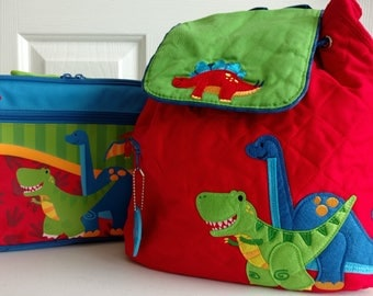 Stephen Joseph Embroidered kids lunchboxes AND backpack sets.