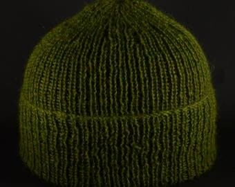 Tweed Effect, lime, with hints of apricot. Stunning. Pure alpaca beanie.