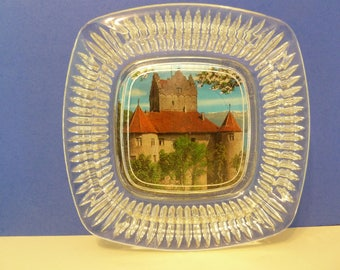 Ashtray Souvenir, Bodensee German Castle, 7th Century, Meersburg Fortress