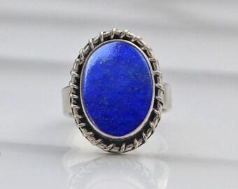 Lapis Lazuli ring, 925 sterling silver ring, silver lapis ring, 925 sterling silver ring, minimalist ring, Yellow gold lapis lazuli ring,