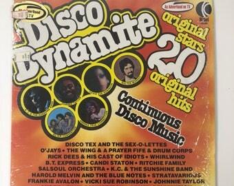 1976 K-Tel Disco Dynamite Vinyl Record 20 Original Hits TU2490