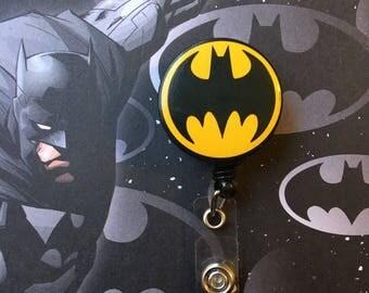 Batman/superhero -Nurse Retractable ID Badge Reel/ RN Badge Holder/Doctor Badge Reel/Nurse Badge Holder/Nursing Student Gifts