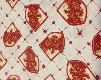 Harry Potter Gryffindor Cotton Fabric by the Yard