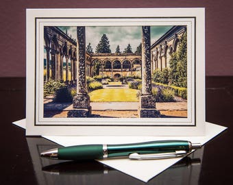 Witley Court & Gardens GC-Greeting Card-Note Card-Travel-Home Office Decor-Matted Art Print-Gift-Photo-Art-England-UK-Ruins-Architecture