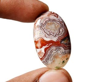 Crazy Lace Agate 23 Cts Natural Gemstone Cabochon Oval Shape Agate 29x17x5.6 MM R14906