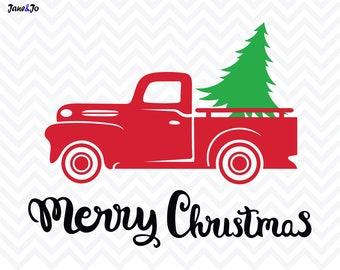 Christmas Tree SVG File,Christmas truck svg,Christmas svg, tree svg,cutting,Merry Christmas svg,silhouette cameo,christmas Cricut