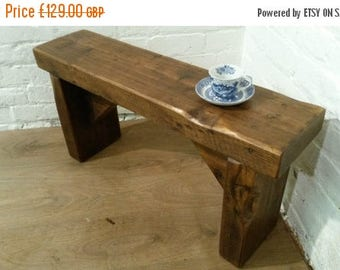 Summer Sale Free Delivery! CHURCH BEAM Solid Rustic Wood Reclaimed Pine Dining Table Chair Vintage Bench - Village Orchard Furniture