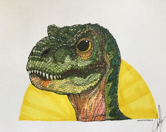 The Lost World Baby Trex Original Drawing