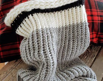 Rustic Anick Chunky Cowl Scarf Shawl Hood, Snood, Hood scarf, Snood scarf, Knit hood, Hooded scarf, Knit cowl neck scarf