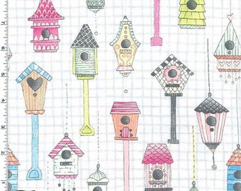 Tweet Me - Love Shack Fabric - Haze - Sold by the 1/2 Yard