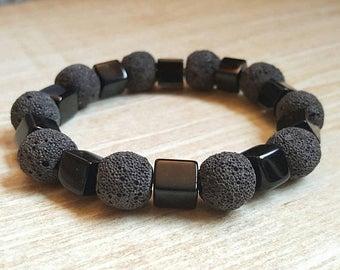 CLEARANCE Black Onyx Bead Bracelet