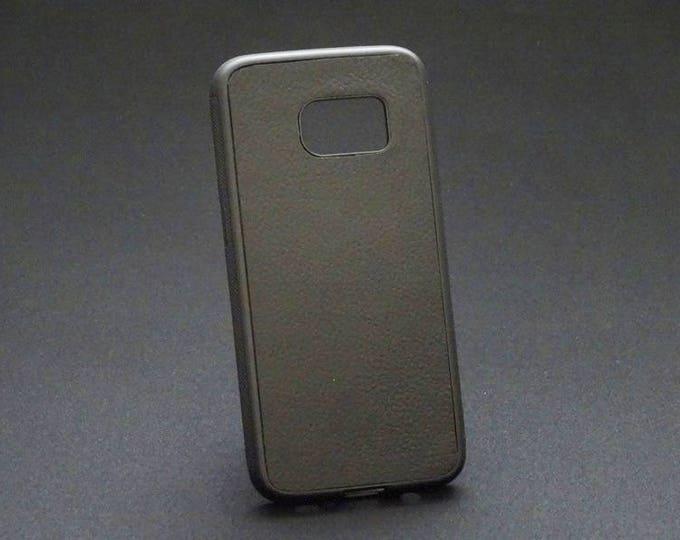 Samsung Galaxy S7 - Jimmy Case in Black - Kangaroo leather - Handmade - James Watson
