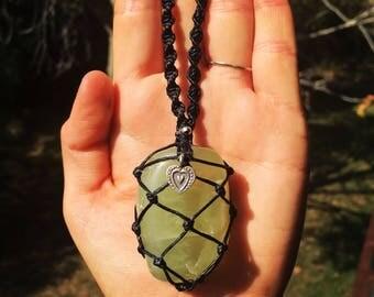 large australian prehnite necklace