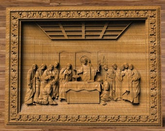 Wooden Last Supper Etsy