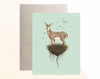 Deer Greeting Card, Woodland Greeting Card