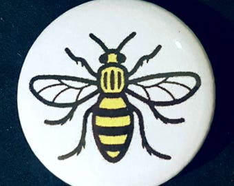 Manchester Bee, I Love Manchester, Stop Terrorism, Anti Terrorist, UK Badges, Manchester Button, One Love Badge, Manchester Button