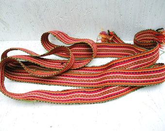 Ukrainian vintage woven belt -  Woven folk belt - Ethnic woven belt - Traditional Ukrainian woven belt