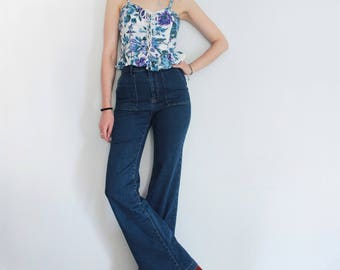 90s vintage Floral Corset Top with Ruffles