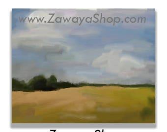 landscape oil painting wall art print downloadable, wall art, digital art, cheap art prints