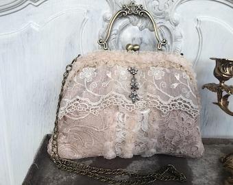Bag, evening bag, dirndl bag, bag, Vintagebag, Shabbybag, bags