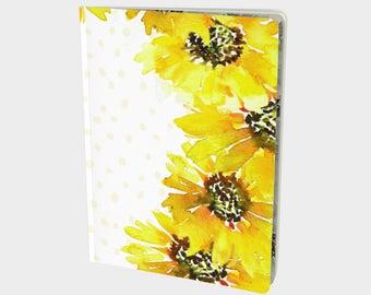 Idea Journal - Dream Notebook, Dot Grid Notebook, Journaling Notebook, Bullet Journal, Blank notebook, Blank Journal, Sunflower Art,