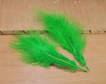 50pcs Feathers,Turkey Feathers,Green Feathers,Fluffy Feathers,Bulk,Natural Feathers,Wholesale Feathers (13cm - 18cm long)