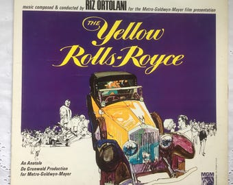 The Yellow Rolls-Royce Vinyl 33 LP Music Soundtrack Album EX Mono 1965 Ingrid Bergman