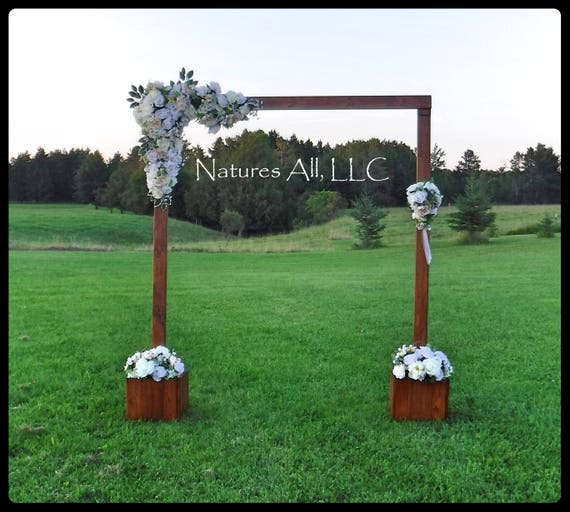 Wedding Arch/Wedding Arbor/With Rustic Wood Arch Boxes/Rustic Wedding Arch/Complete Kit/ Indoors Or Outdoors/Wedding Backdrop/Provincial