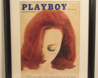 Vintage Playboy Magazine Cover Matted Framed : March 1960 - Ann Whitelaw